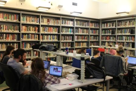 The Frohring Library, john cabot university, jcu campus, english library in rome, study abroad in Italy