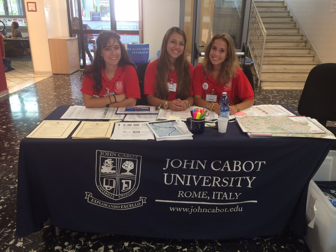 Current JCU students welcome new arrivals at the 2015 fall orientation