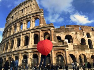 classical studies major, study abroad in Rome, jcu classical studies, colossuem,