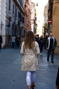 when rome is your campus, studying abroad in Rome, trastevere, jcu students, walking in Rome