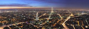 4 European capitals, traveling in Europe, jcu student travel, studying abroad, Montparnasse Tower, paris view at night