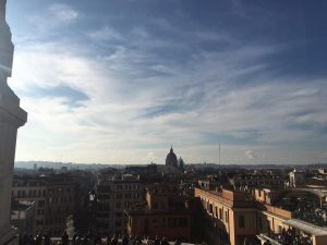 jcu student spotlight, student experiences in Rome, study abroad, view of rome