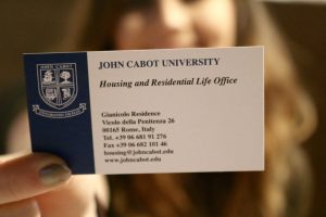 john cabot university, american universities in Rome, study abroad, JCU housing office, JCU russian students,
