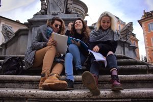 students, Rome, russian students in Rome, john cabot university, university students studying