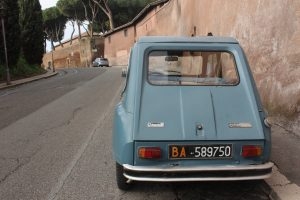 Rome, vintage car, studying abroad, first semester study abroad, john cabot university