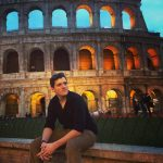 Visiting student Scott at the Colosseum