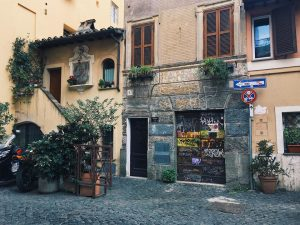 trastevere, Rome, studying abroad in Rome, John Cabot University, JCU alumni