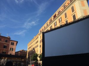 film-screening festival in Trastevere, history of cinema, Trastevere open theatre, cinema America Occupato
