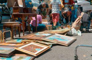 Porta Portese Flea Market, Rome, flea market shopping, vintage market