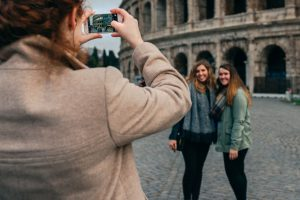 students in Rome, Colosseum, Rome