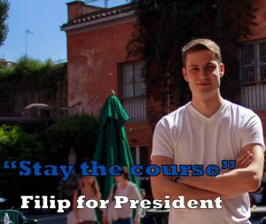 Filip Popov-Plavsic, John Cabot University Student Government President, Filip Popov-Plavsic, John Cabot University, study abroad in Rome, international schools in Italy, living in Rome, JCU student stories