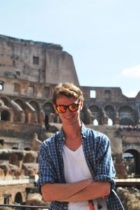 Study Abroad Spotlight, Reid Masimore, study abroad in Rome, inside the colosseum, American university in Italy, creative advertising majors, Michigan State University study abroad