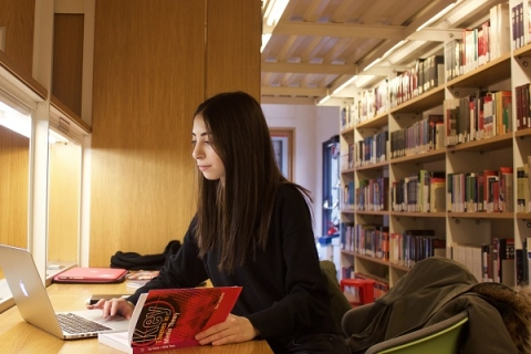 Finding a quiet space either on-campus or elsewhere can keep you focused on your studies