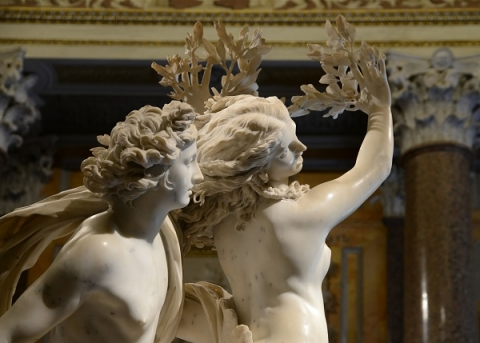 The Galleria Borghese contains many works by Bernini, including Apollo and Daphne