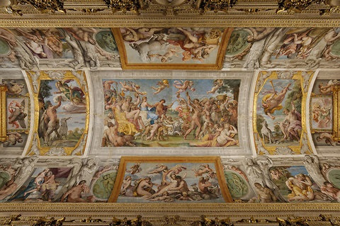 The Palazzo Farnese features an inspiring frescoe cycle by Annibale Carracci called The Loves of the Gods