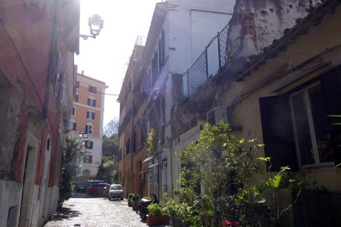 The narrow streets of Trastevere are rich in history
