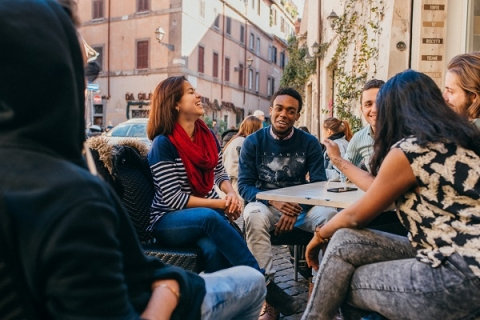 Exploring Rome as a customer gives you a chance to examine other businesses up close