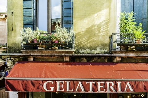 Gelato shops don't always need to have flashy or colourful storefronts to prove their quality