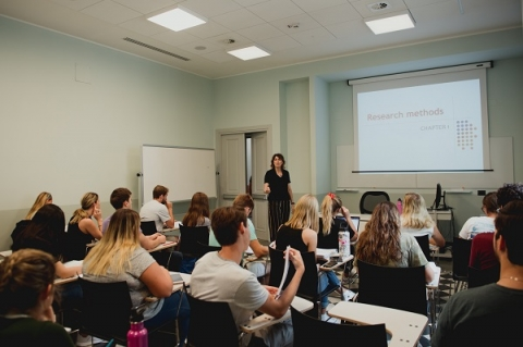 In addition to core courses, students will choose five electives from the psychological science field